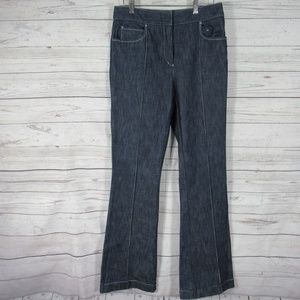 Valentino Jeans Womens 42 Blue Jeans Flared